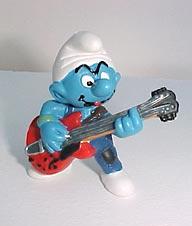 Smurf guitar player