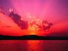 Large sunset
