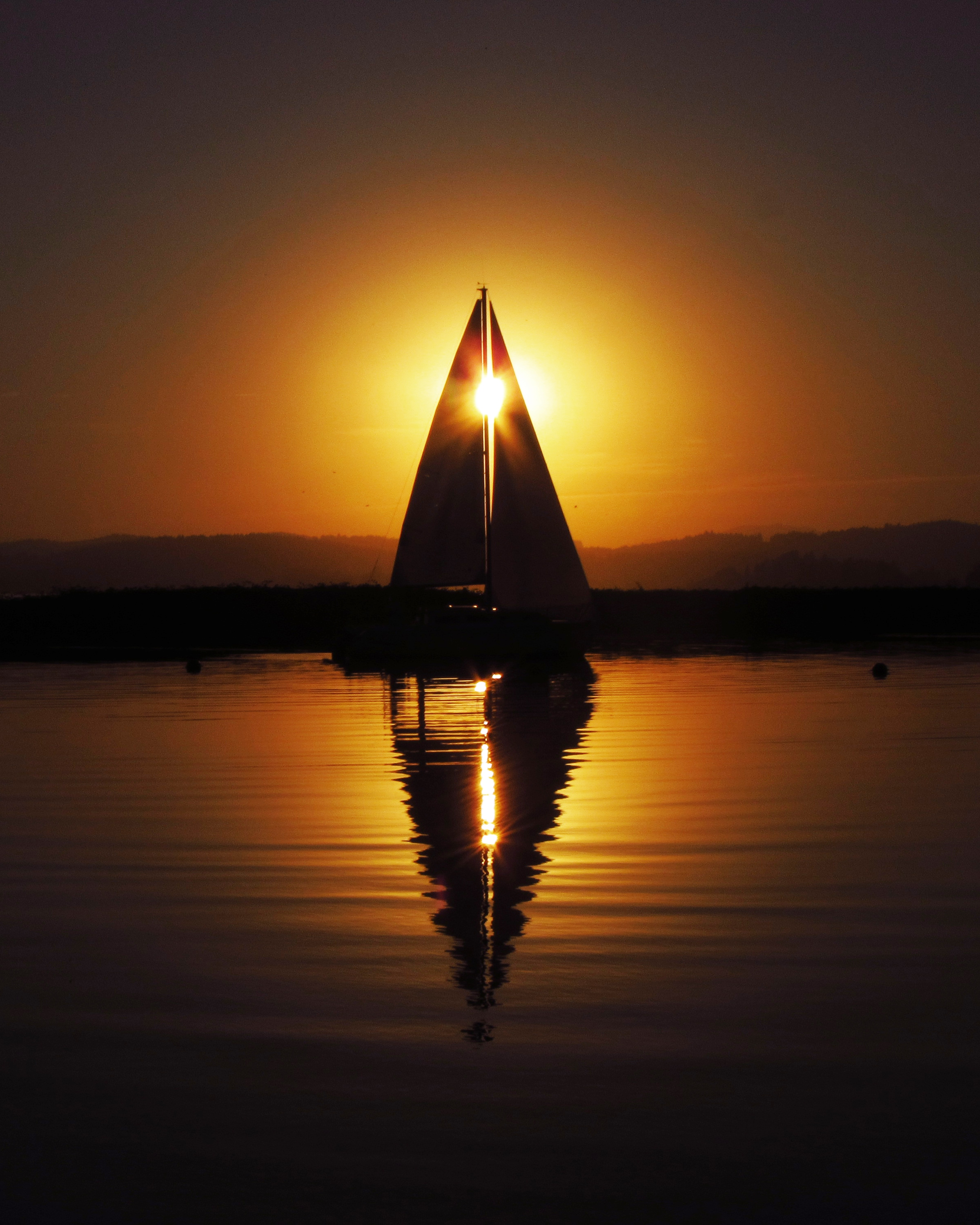 Sunset sailboat avatar