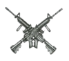 Large crossed rifles