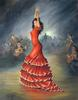 Large flamenco dancer