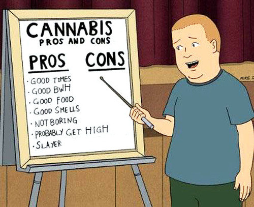 Bobby hill pros and cons of cannabis