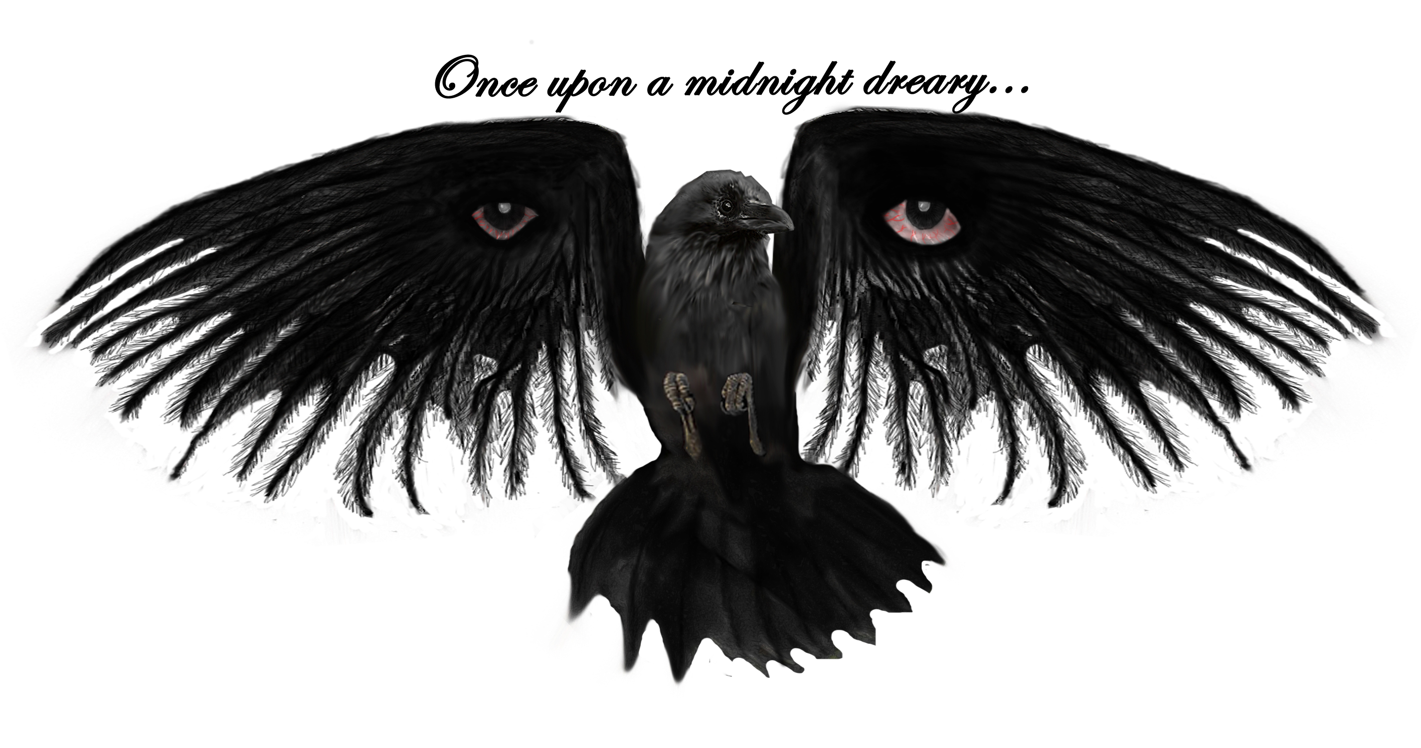 Raven w eyes and text1