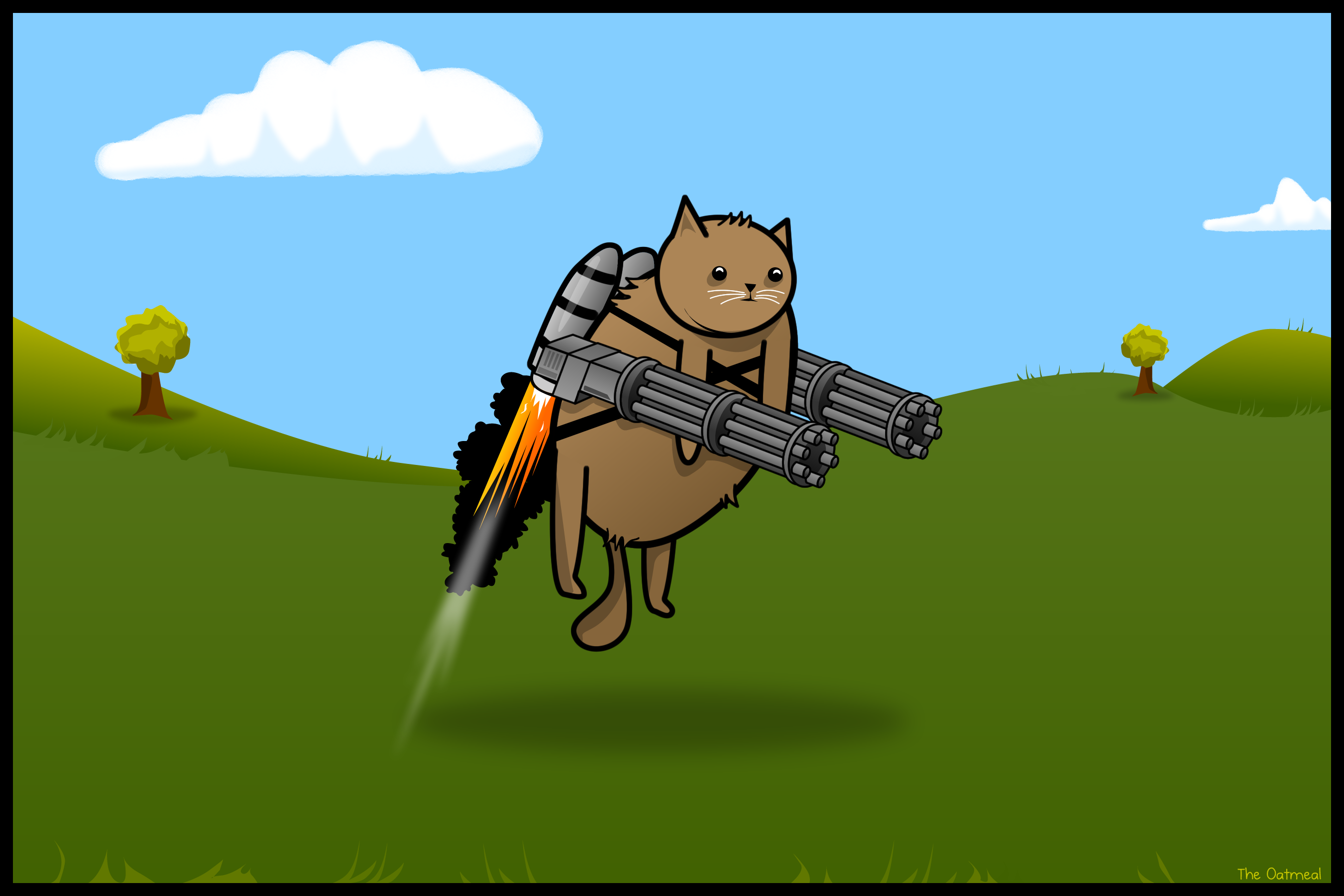 Gatling cat wallpaper