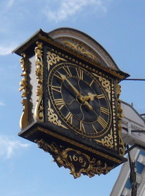 Guildford town clock cropped