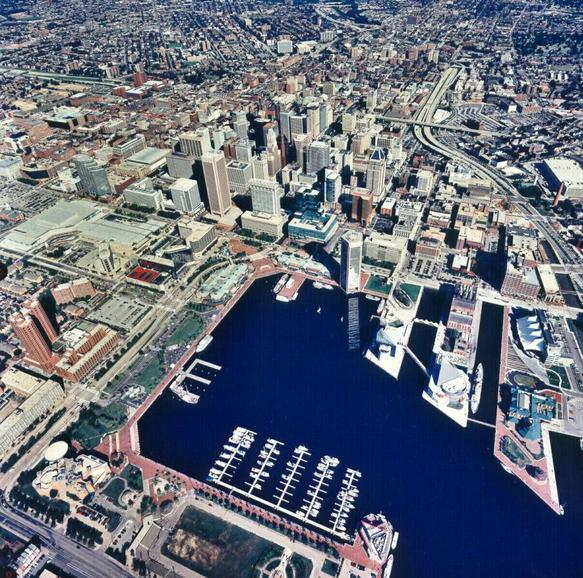 Baltimore city and inner harbor