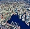 Large baltimore city and inner harbor