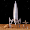 Large rocket ship pepper mill 2