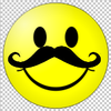 Large smiley mustache