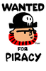 Large wanted piracy art