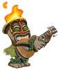 Large ukulele tiki