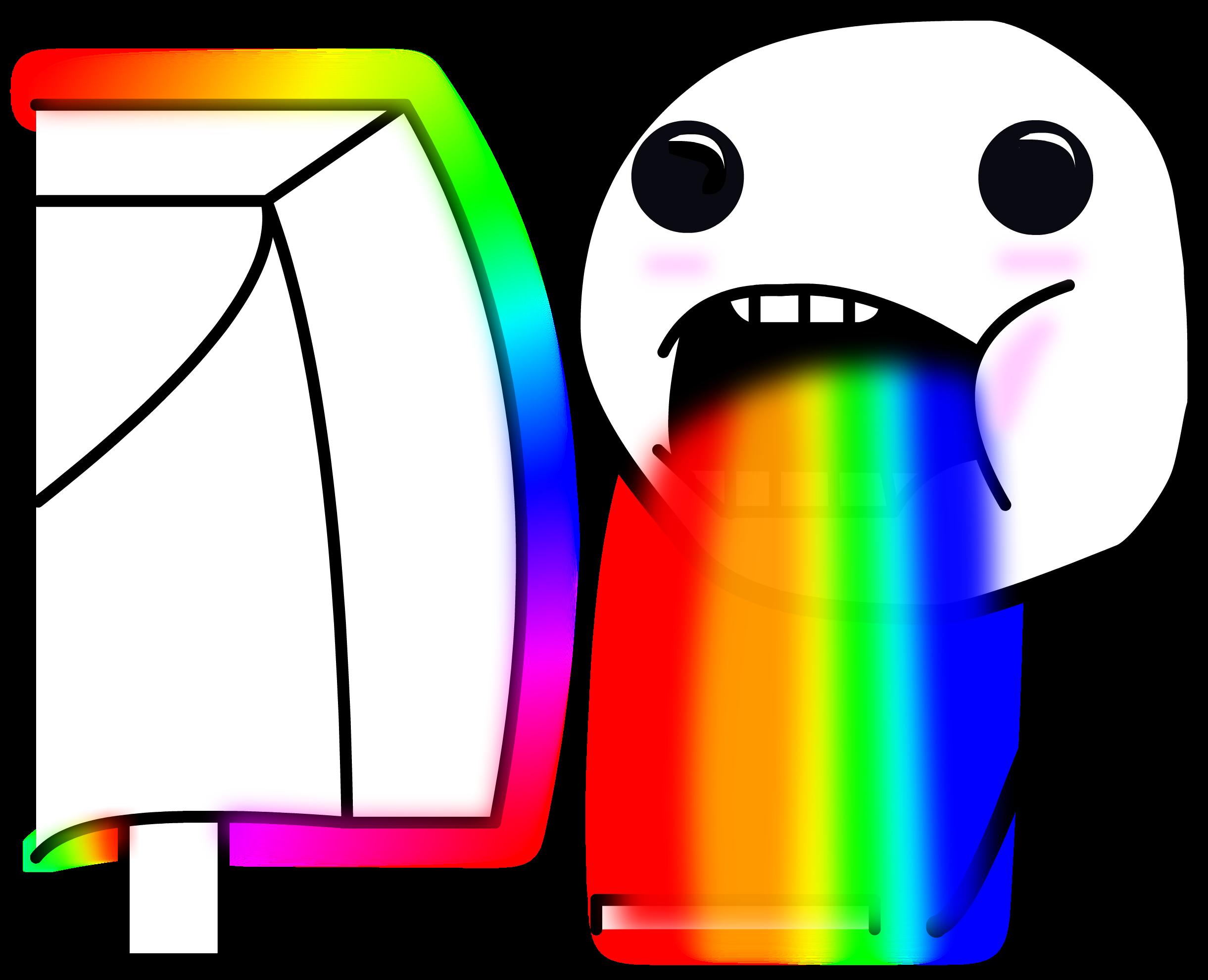 Drool rainbows