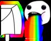 Large drool rainbows