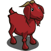 Large goat red icon