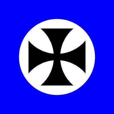 Neo crusader flag square