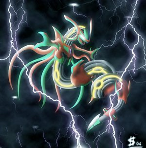 Infected rayquaza  i series  by esepibe