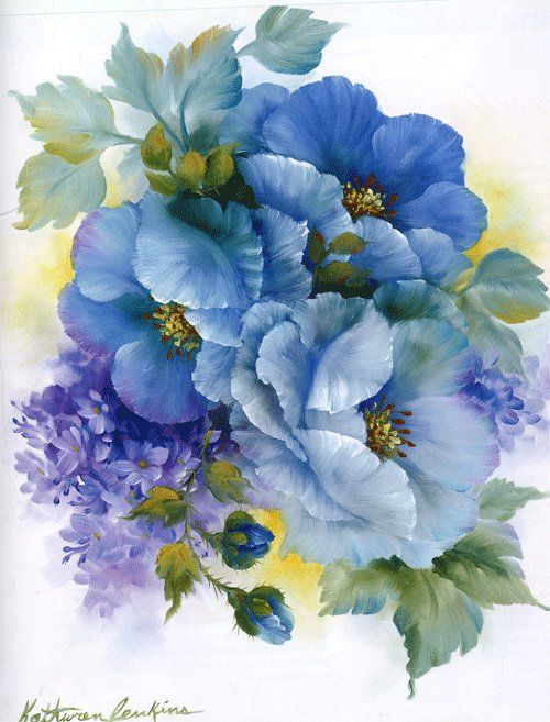 Blue poppies mb