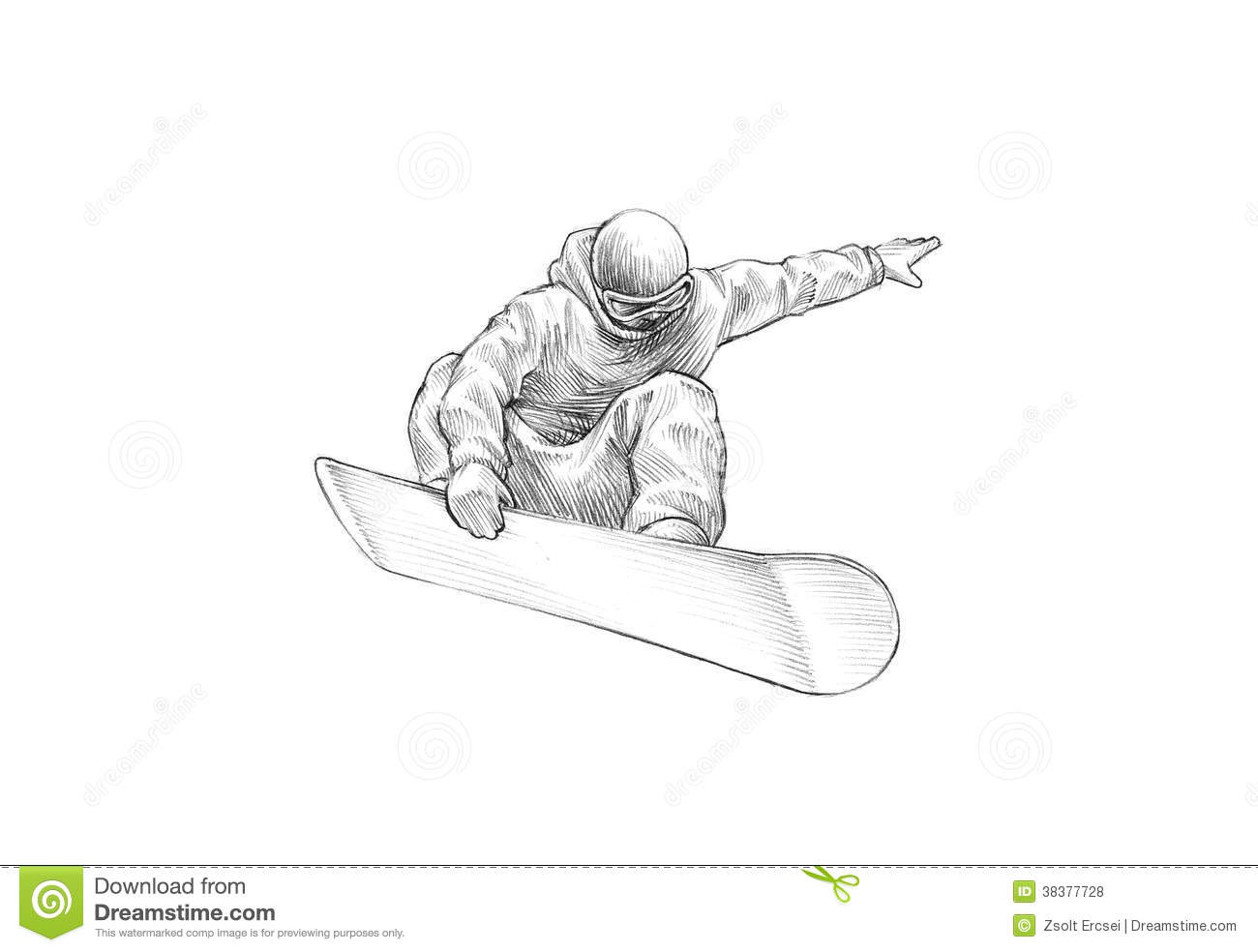 Snowboarder drawing