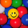 Large 453135 sunny one smiley face rubber ball