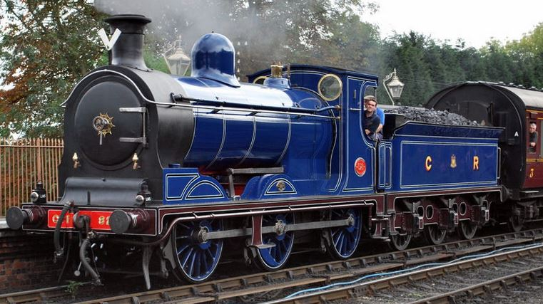 Caledonian railway engine