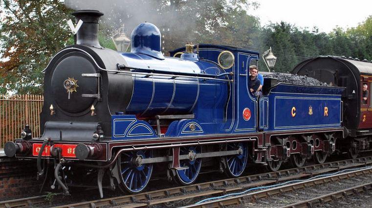 Caledonian railway engine