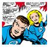 Large marvel comics retro fantastic four comic panel mr fantastic invisible woman